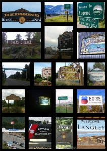 welcome sign collage